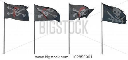 Jolly Roger flags.