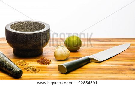 Mortar And Pestle Custom Spices