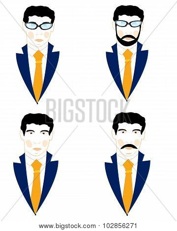 Set of the icons men