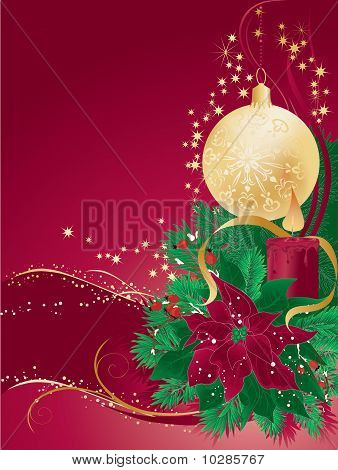Red Christmas Vector Card