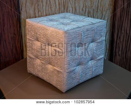 Silver cube chair