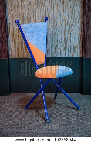 Blue and orange chair