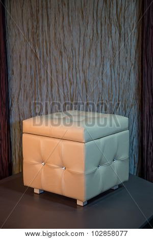 Beige cube chair