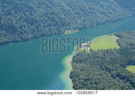 Konigssee Lake And St. Bartholoma Church