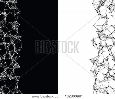 Abstract Black And White Elements