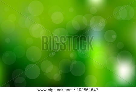 Vector Green Bokeh Background