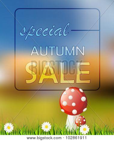 Vector Autumn Card Sale