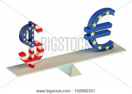 Dollar Or Euro, Balance Concept