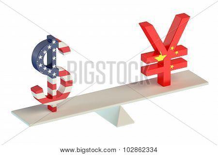 Dollar Or Yuan, Balance Concept
