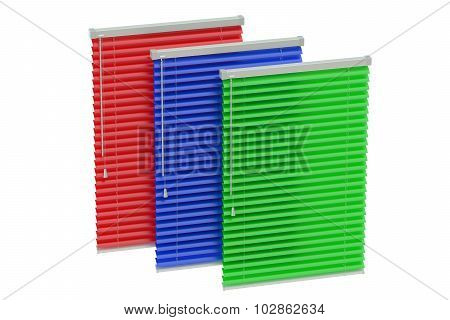 Set Of Colored Blinds