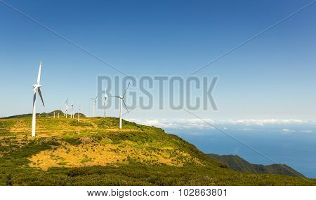 Windmills in the mountains