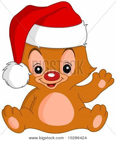 Christmas Waving Teddy Bear