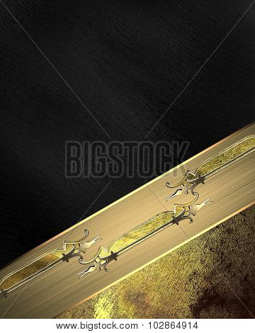 Black Background With Antique Ornaments. Element For Design. Template For Design. Copy Space For Ad