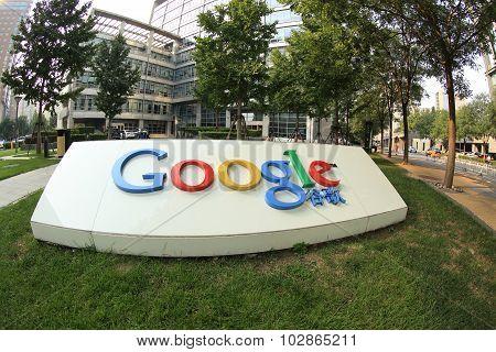Google Corporation Building sign