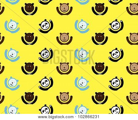 seamless vector pattern with bears