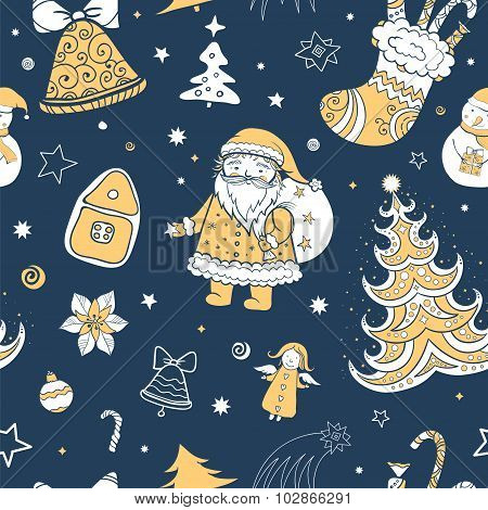 Seamless Vector Christmas Pattern