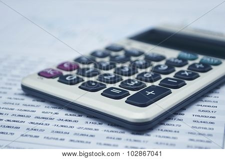 Calculator Button Plus On Graph Paper, Accounting Background