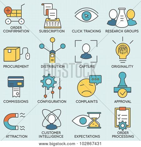 Customer relationship management icons - part 8