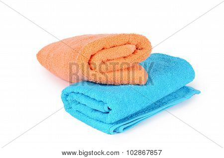 The Bath Towel Isolated On White