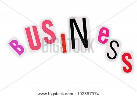 The Word Business From Newspaper Letters