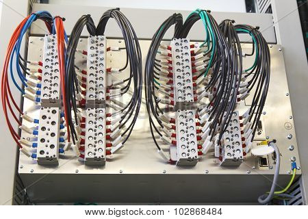 Control panel with relay protection devices