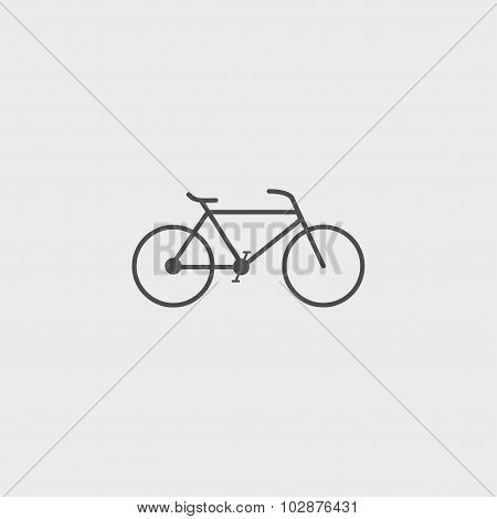 Minimalistic Bicycle Icon. Vector, Eps 10