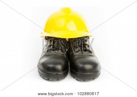 Yellow Hard Hat And Shoes