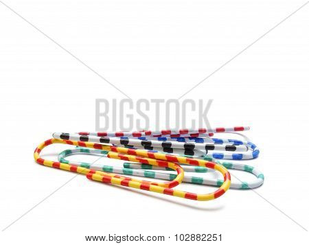 Selection Of Different Colorful Paperclips