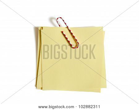 Color Paper Clip With Yellow Paper