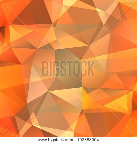 orange polygonal background