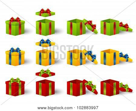 Colorful Christmas Gift boxes