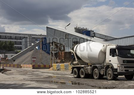 Concrete or cement factory