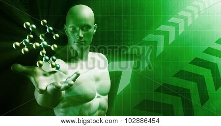 Abstract Science Background with Atomic Research Template