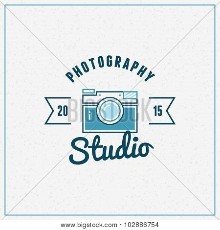 Photography Logo Design Template. Retro Vector Badge. Photography Studio