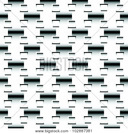 Squares Abstract Geometric Pattern. Grayscale, Seamlessly Repeatable Checkered Pattern With Alternat