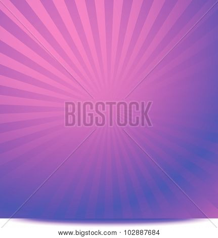 Colorful Graphics With Rays, Beams With Radial Gradient. Vector.