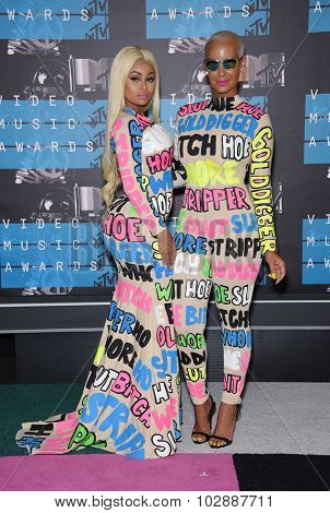 LOS ANGELES - AUG 30:  Blac Chyna & Amber Rose 2015 MTV Video Music Awards - Arrivals  on August 30, 2015 in Hollywood, CA