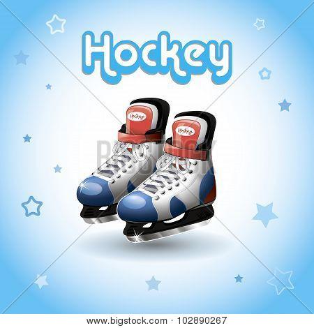 Ice Hockey Skates, Vector