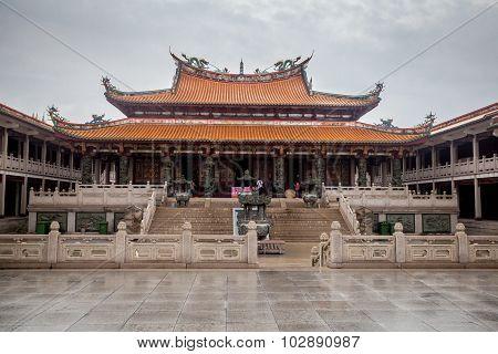 A-Ma cultural village in the rainy day, Macau