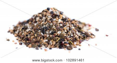 Crushed Peppercorns (isolated On White)
