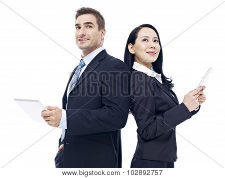 Business People With Tablet Computer