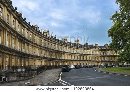 Houses Circus In Bath, Somerset, England