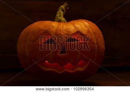 Halloween Pumpkin Head Jack With Candle