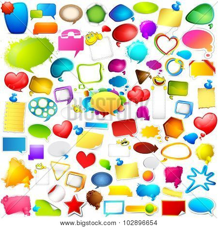 illustration of Colorful Chat and Speech bubble jumbo collection