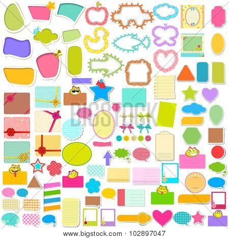 illustration of Scrapbook element and chat bubble jumbo collection