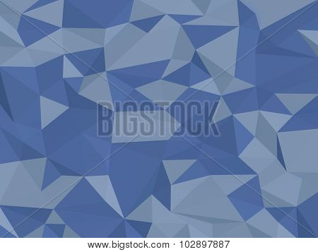 Low-Poly Blue Background