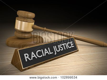 Racial justice legal concept for protection of civil rights