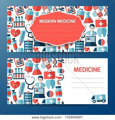 Template or cover design with medical elements