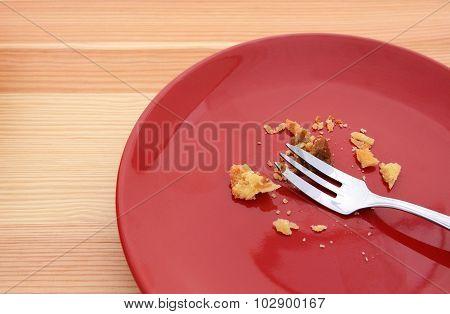 Crumbs From An Eaten Pumpkin Pie
