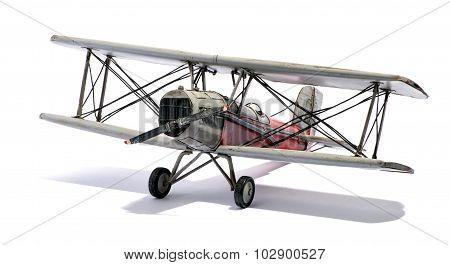 Model Of A Vintage Biplane